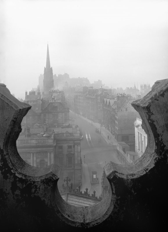 General view of Lawnmarket from St Giles Cathedral, Edinburgh.
