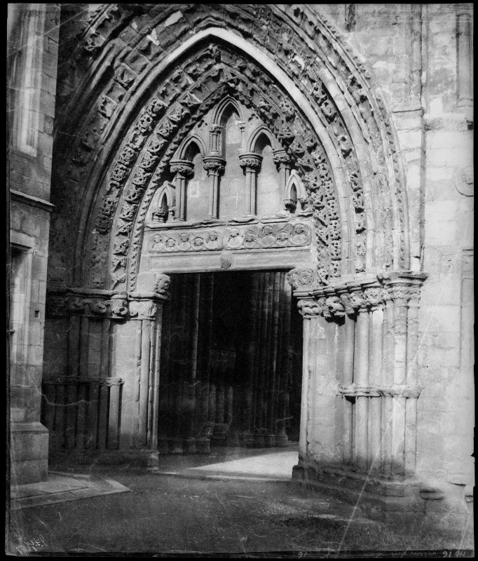 View of the Great West Doorway, Holyrood Abbey.