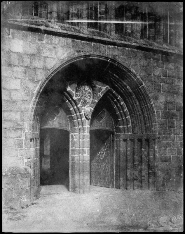 View of West door at St. Machar's Cathedral, Aberdeen