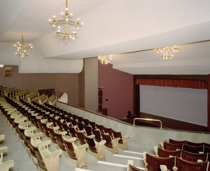 Interior. Theatre, view of auditorium from N at balcony level