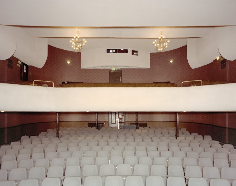 Interior. Theatre, view of auditorium from S
