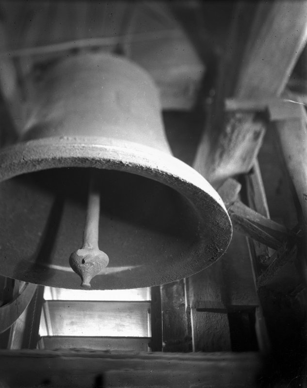 Detail of bell from below, Magdalen Chapel, Edinburgh