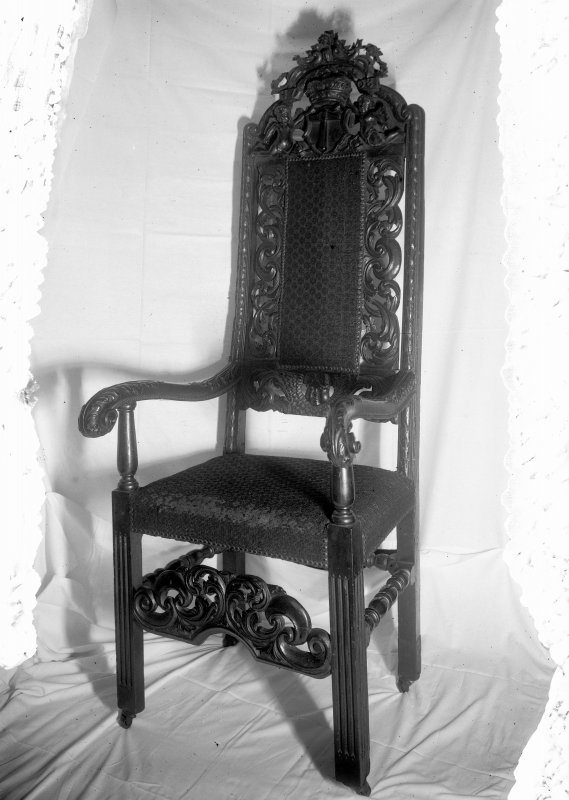 Detail of Deacon's Chair, Incorporation of Hammermen Inv. fig. 190