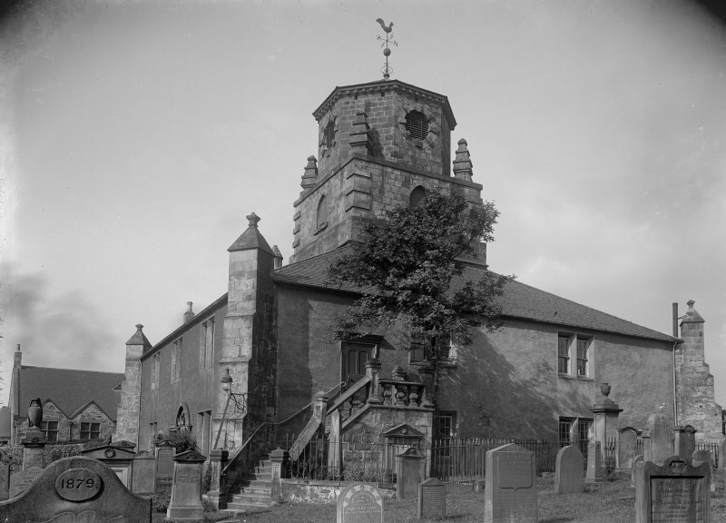View of church and churchyard from south