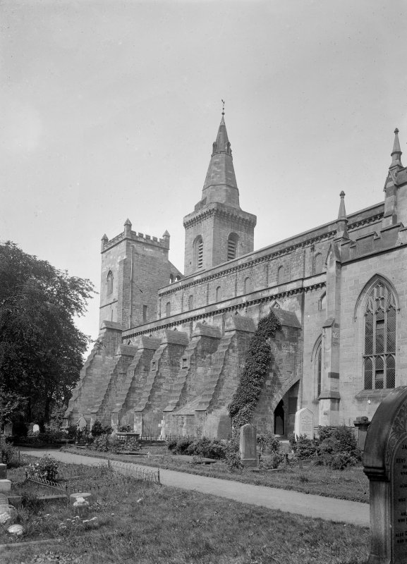 View of buttresses from South East