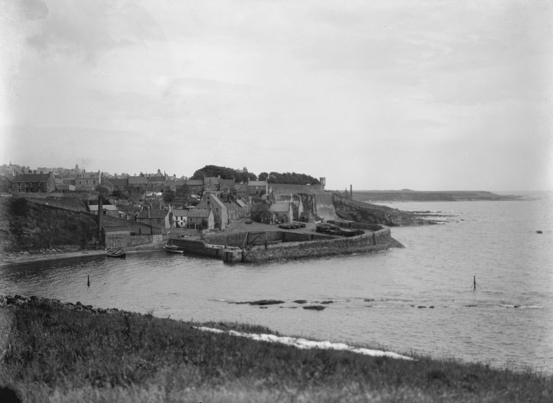 General view from west of harbour area, Crail