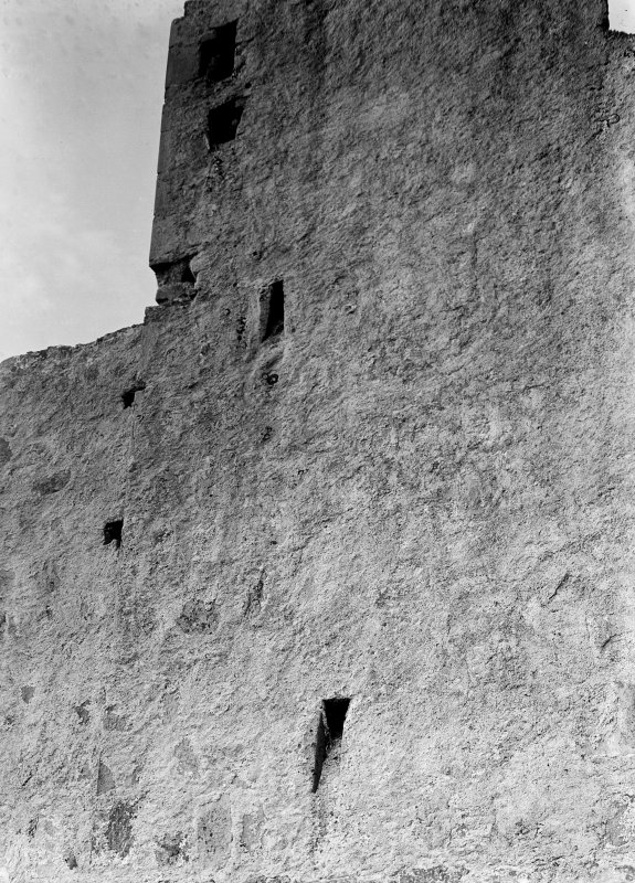 Detail of S wall of tower.