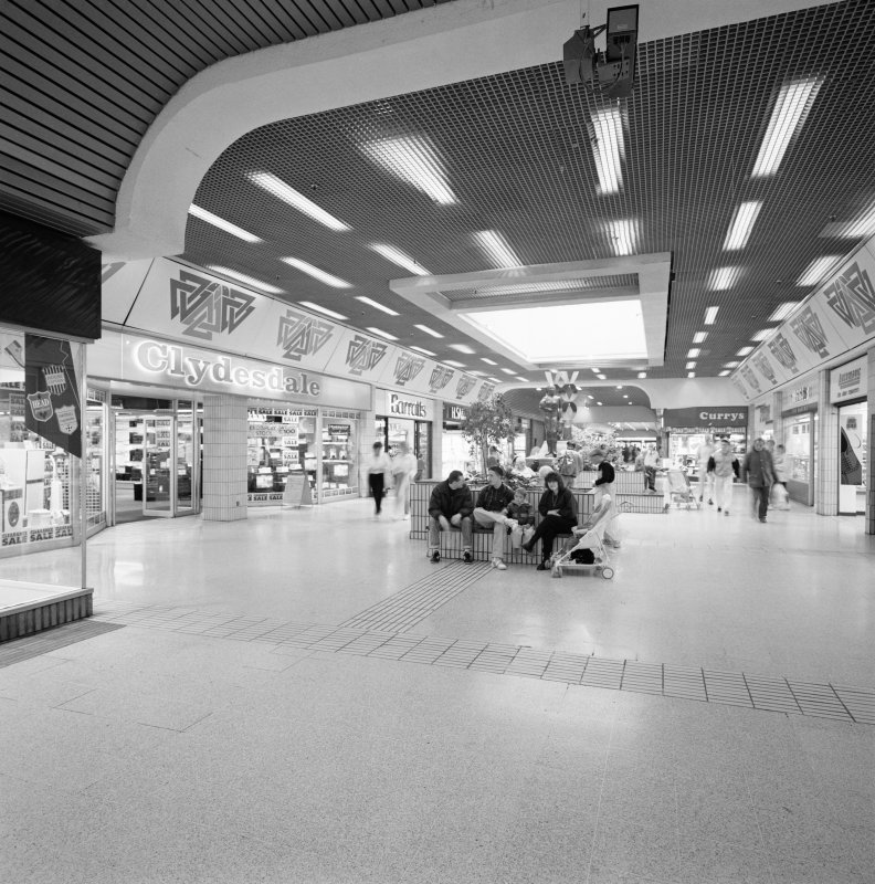 Digital copy of photograph of view of Teviot Walk mall.