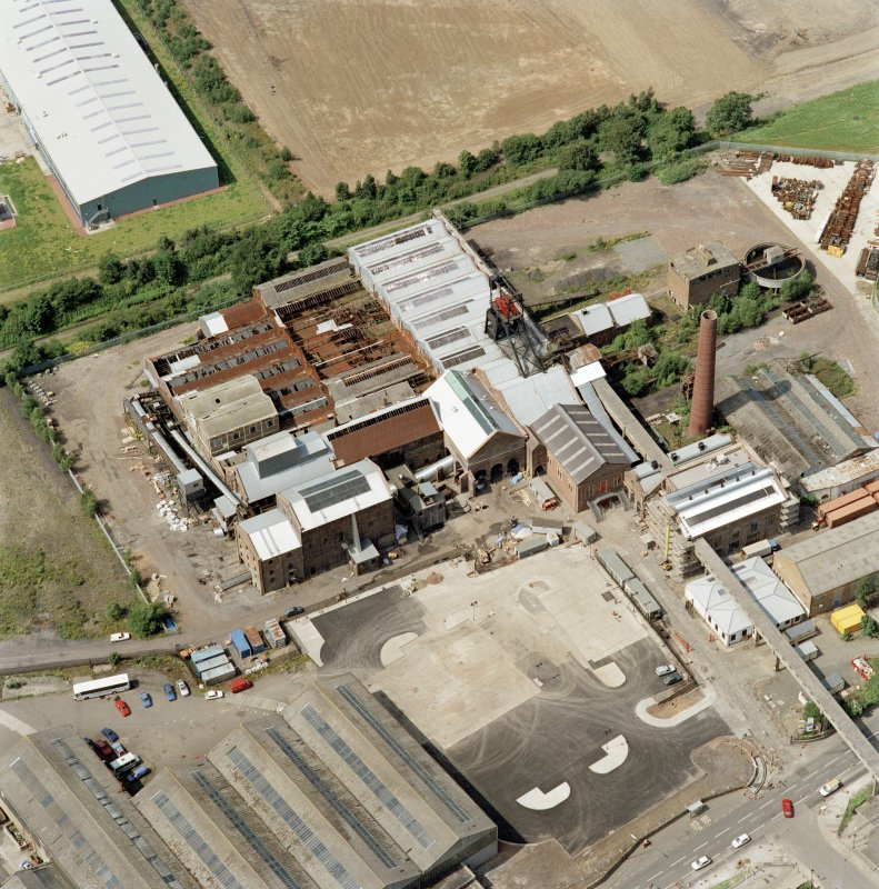 Digital copy of photograph of oblique aerial view centred on Lady Victoria Colliery, taken from the ESE.