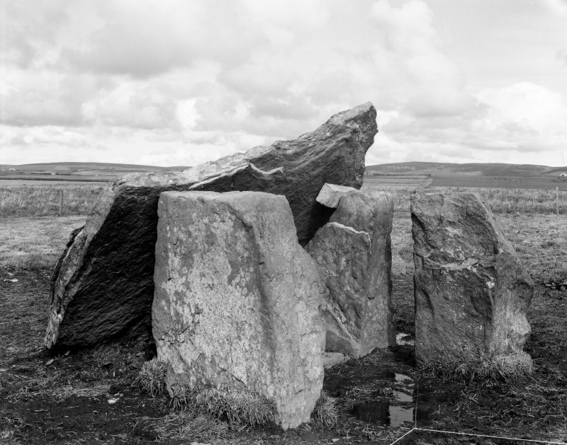 Digital copy of pre-excavation photograph of Dolmen & capstone, from S.W.