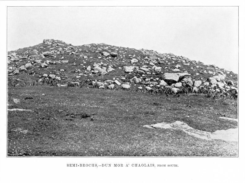 Tiree, Dun Mor A' Chaolais. View from south Photograph copied from 'Coll and Tiree' by Erskine Beveridge.