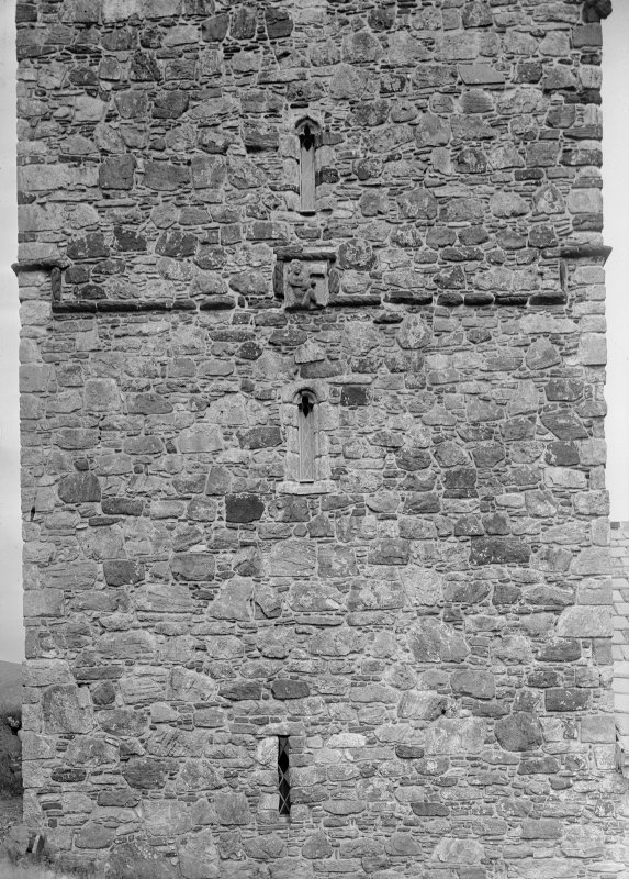 Detail of S face of tower.