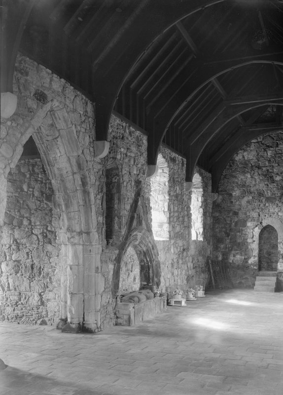 St Clement's Church, Rodel. Interior. General view looking SW.