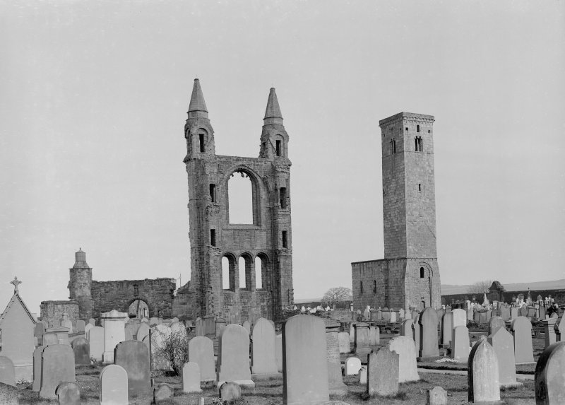 General view of ruins from NW