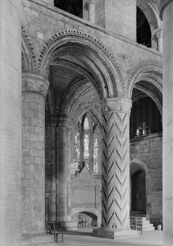 View of bay, North side of nave