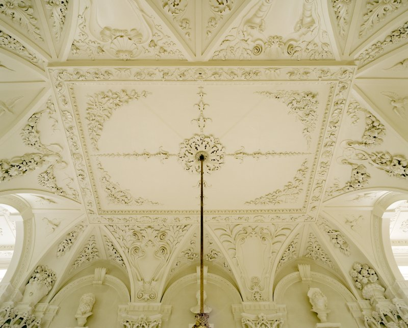 Interior.  1st. floor, hall, view of ceiling