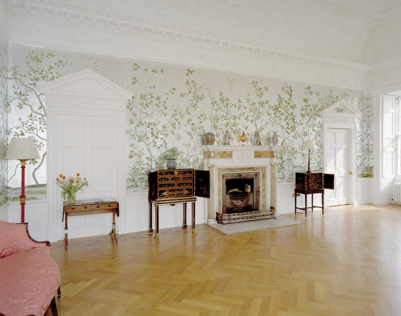 Chinese drawing-room on ground floor of Arniston House, Midlothian, taken from NW