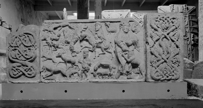 St Andrew's Cathedral Museum; Side of Sarcophagus