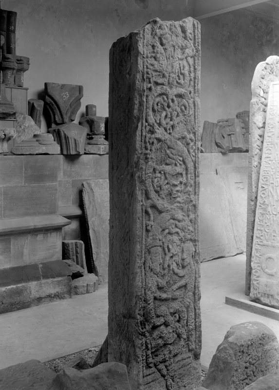 Cross-shaft in the Cathedral Museum, St Andrews.