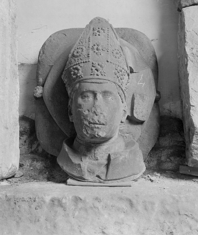 Bishop's Head in the Cathedral Museum, St Andrews.
