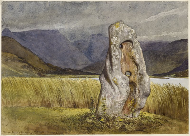 Drawing of Clach a Charra stone.