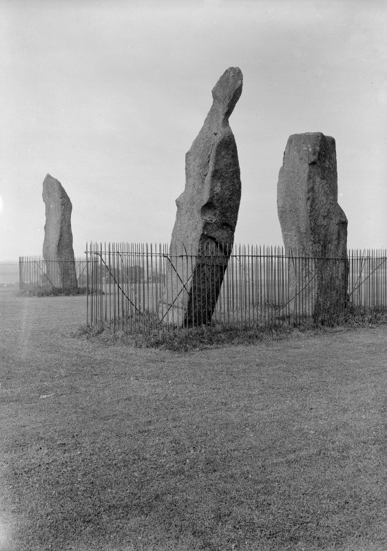 Standing Stones, Lundin Links. General view.
