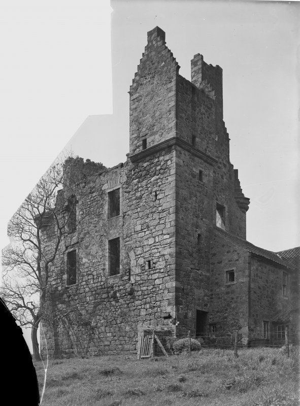 Piteaddie Castle, view from east.