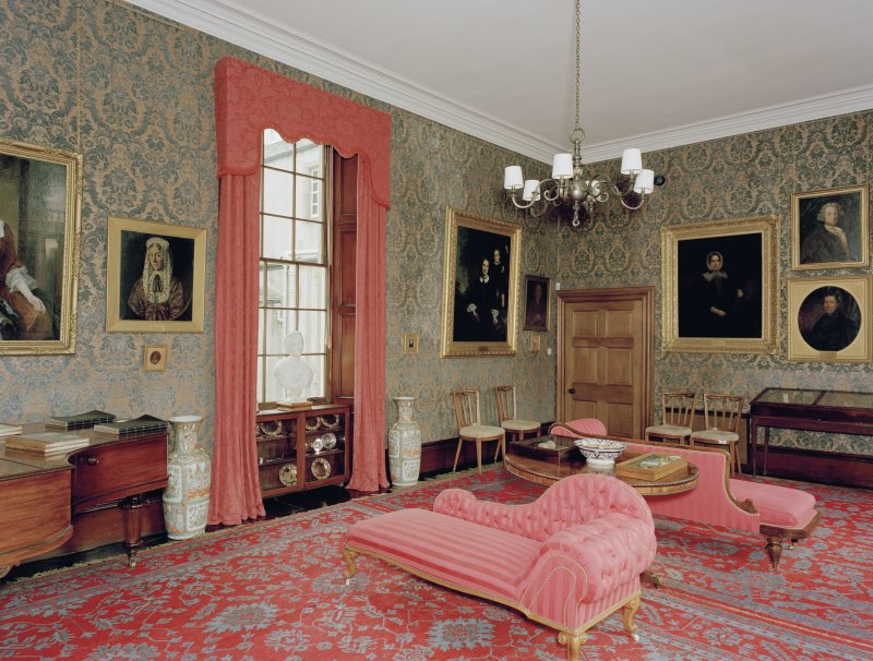 Leith Hall, interior.  First floor. Music-room: view from North