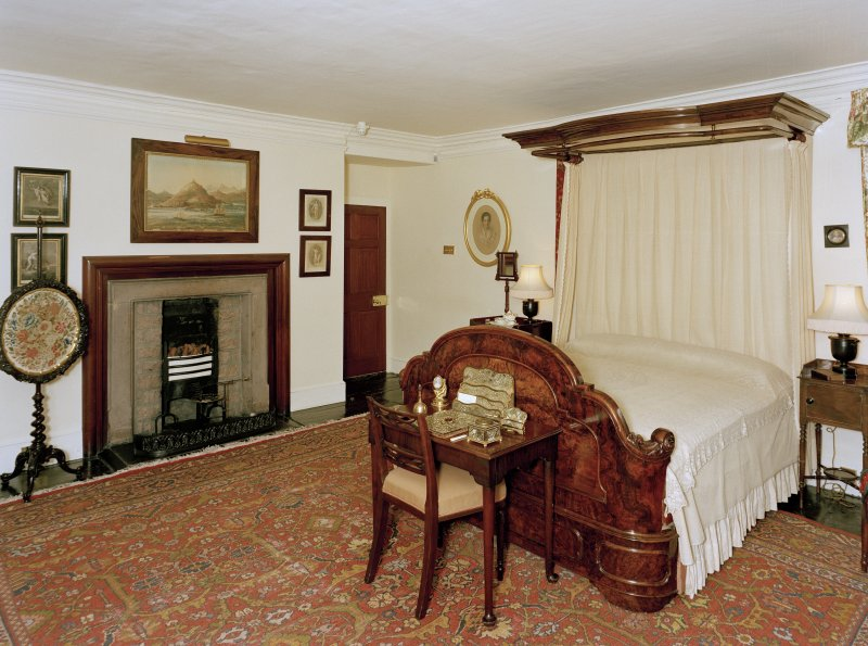 Leith Hall, interior.  First floor. Leith bedroom: view from South East
