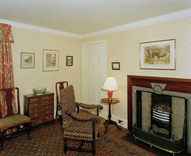 Leith Hall, interior.  First floor. North East bedroom: view from South West