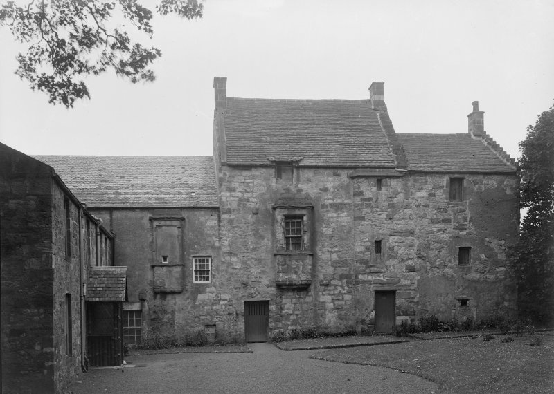 Pittenweem Priory, west range from Cloister