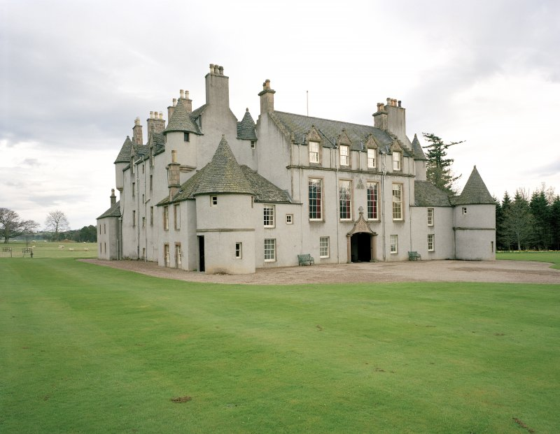 Leith Hall, exterior.  View from North West