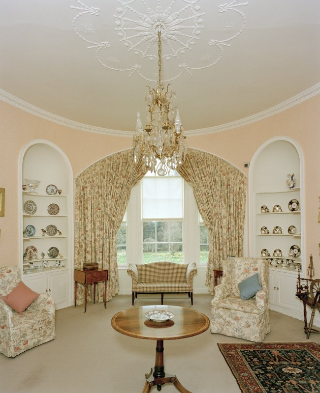 View from North of oval drawing-room on first floor of Leith Hall, Aberdeenshire