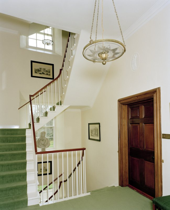 Leith Hall, interior.  First floor. South staircase: view from North East