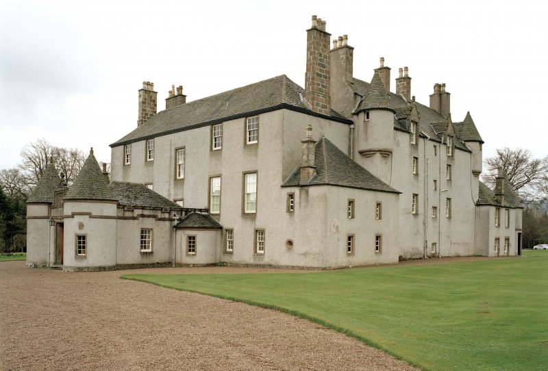 Leith Hall, exterior.  View from North East