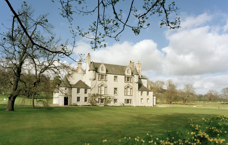 Leith Hall, exterior.  General view from South West