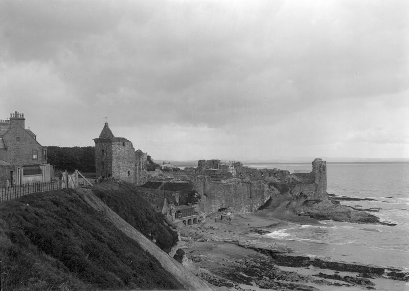 St Andrews Castle; View from East.