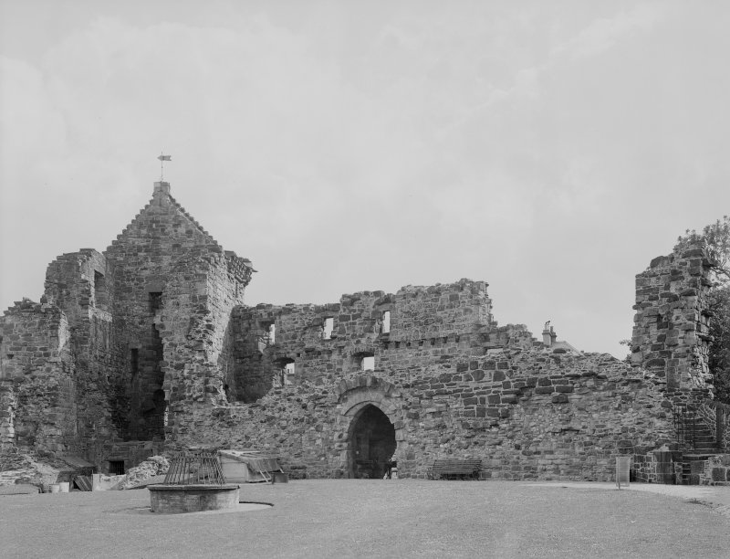 St Andrews Castle; North interior and gaff opening for drawbridge.