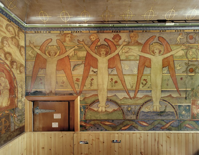Detail of mural in Mortuary Chapel: East wall