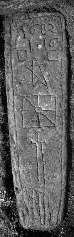 Kilfinan Parish Church. Churchyard. Slab 1682 [No. 14].