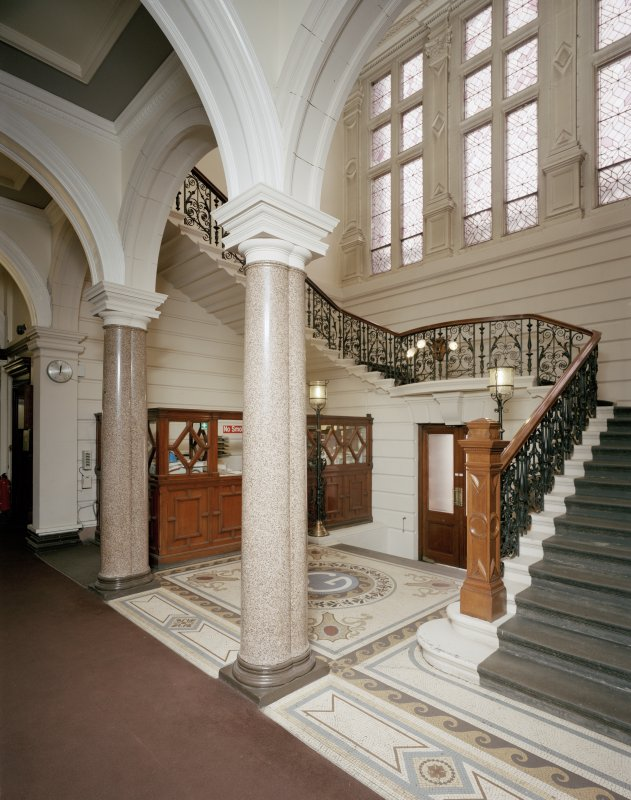 Glasgow, 1030-1048 Govan Road, Shipyard Offices, interior View of entrance hall to offices.