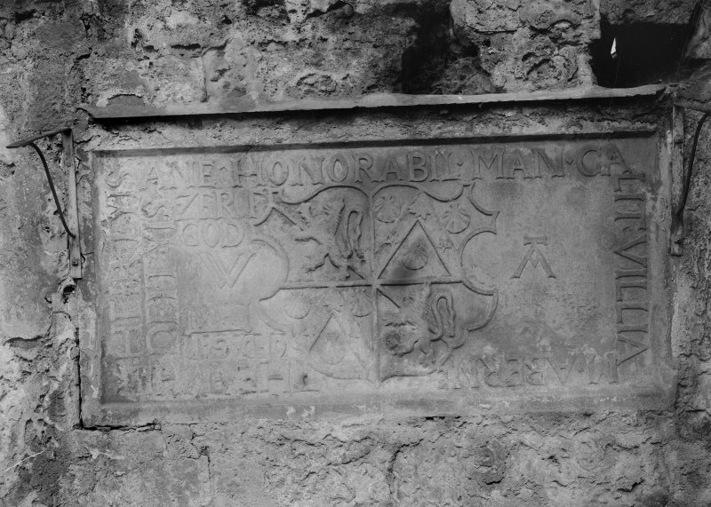 Tomb slab in North wall,