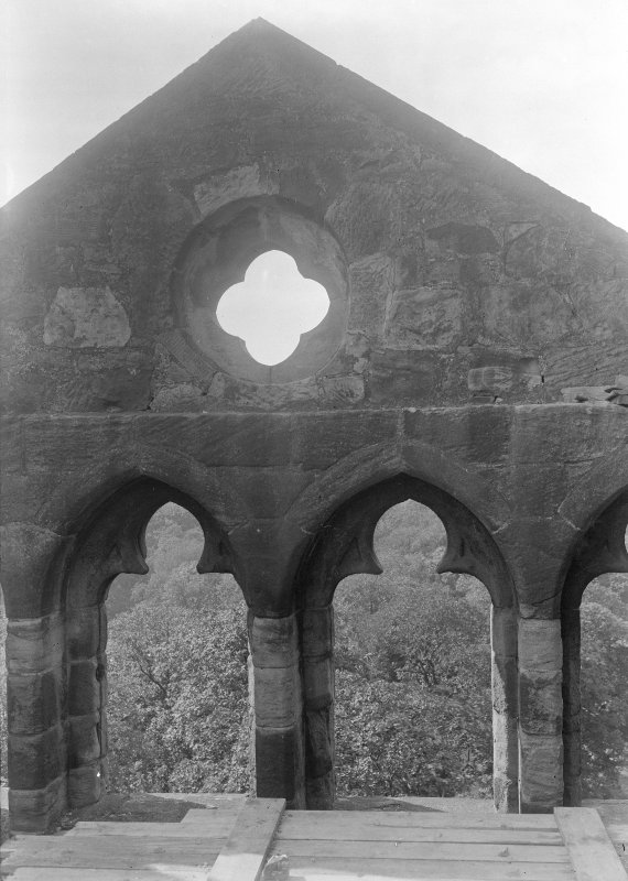 Windows of West gable from inside