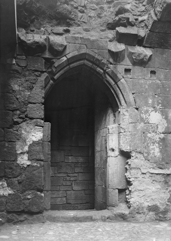 Door from passage to undercroft of Dorter