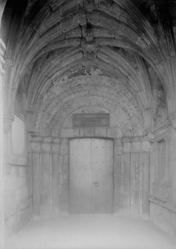Interior of North porch and Norman doorway