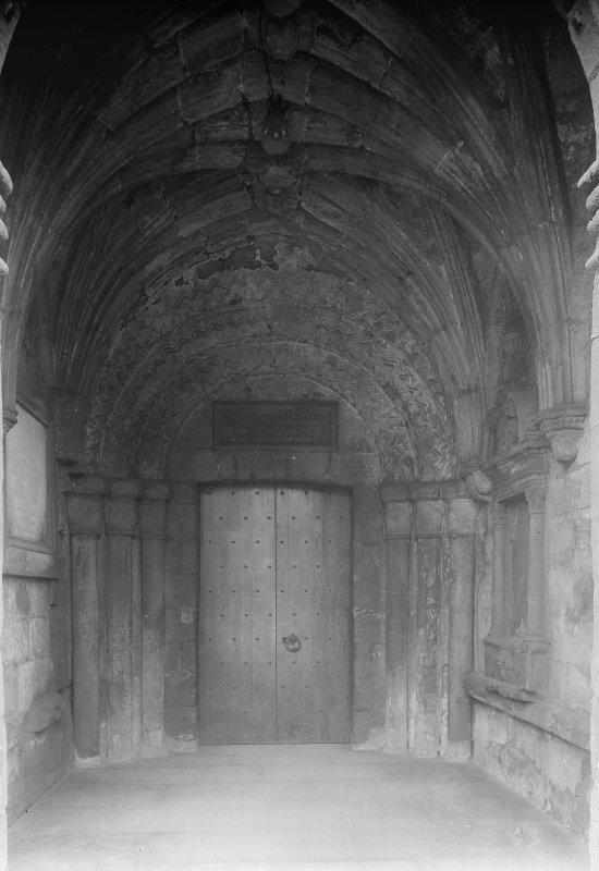 North doorway in porch
