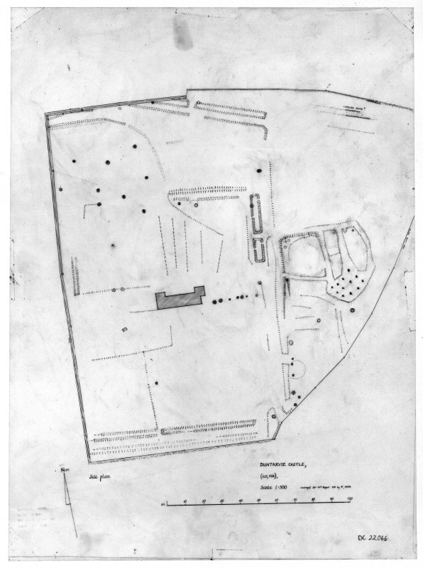 Photographic copy of drawing showing site plan.