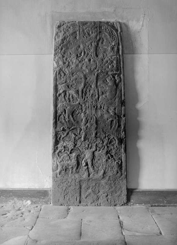 Early medieval cross-slab in vestibule, Crail parish church.