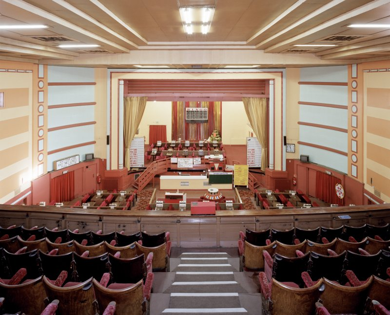 Interior view of the Regal Cinema, Broxburn, showing auditorium from W (gallery).