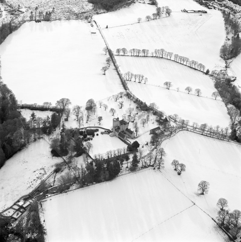Digital copy of oblique aerial view centred on the castle taken from the NE.